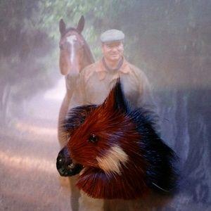 HORSE HEAD BROOCH